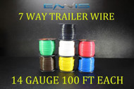 14 GAUGE WIRE ENNIS ELECTRONICS 7 WAY TRAILER LIGHT 100 FT SPOOLS PRIMARY CABLE