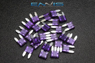 (100) PACK ATM 3 AMP FUSES MINI FUSE BLADE STYLE CAR BOAT AUTOMOTIVE AUTO ATM3