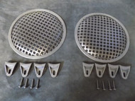 (2) 10 INCH STEEL SPEAKER SUBWOOFER GRILL MESH COVER W/ CLIPS SCREWS GLKT-10
