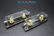 (2) 0 2 4 6 8 GAUGE ANL FUSE HOLDER AMP WAFER FUSES AWG WIRE HIGH QUALITY