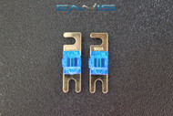 (2) 100 AMP MINI ANL FUSES GOLD PLATED INLINE AFC AFS BLADE AUTO HOLDER MANL100
