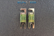 (2) 150 AMP MINI ANL FUSES GOLD PLATED INLINE AFC AFS BLADE AUTO HOLDER MANL150