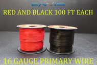 16 GAUGE WIRE 200 FT ENNIS ELECTRONICS 100 RED 100 BLACK PRIMARY AWG COPPER CLAD
