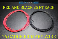 16 GAUGE WIRE 50 FT ENNIS ELECTRONICS 25 RED 25 BLACK PRIMARY AWG COPPER CLAD