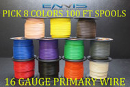 16 GAUGE WIRE ENNIS ELECTRONICS 100 FT EA PRIMARY CABLE AWG COPPER CLAD 8 ROLLS
