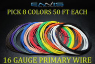 16 GAUGE WIRE ENNIS ELECTRONICS 50 FT EACH PRIMARY CABLE AWG COPPER CLAD 8 ROLLS