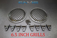 (2) 6.5 INCH STEEL SPEAKER SUB SUBWOOFER GRILL MESH COVER W/ CLIPS SCREWS GR-6.5