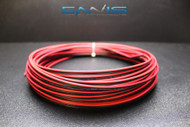 18 GAUGE 25 FT RED BLACK SPEAKER WIRE AWG CABLE POWER STRANDED COPPER CLAD EE