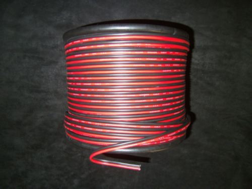18 Gauge Red Black Speaker Wire 100 Ft Awg Cable Power Ground