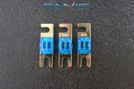 (3) 40 AMP MINI ANL FUSES GOLD PLATED INLINE AFC AFS BLADE AUTO HOLDER MANL40