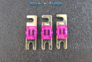 (3) 70 AMP MINI ANL FUSES GOLD PLATED INLINE AFC AFS BLADE AUTO HOLDER MANL70