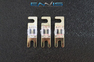 (3) 80 AMP MINI ANL FUSES GOLD PLATED INLINE AFC AFS BLADE AUTO HOLDER MANL80