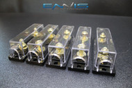 (5) 0 2 4 6 8 GAUGE ANL FUSE HOLDER AMP WAFER FUSES AWG WIRE HIGH QUALITY