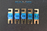 (5) 100 AMP MINI ANL FUSES GOLD PLATED INLINE AFC AFS BLADE AUTO HOLDER MANL100