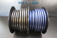 2 GAUGE WIRE 25 FT BLUE 25 FT BLACK PRIMARY POWER GROUND STRANDED AWG CABLE