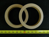 2 MDF SPEAKER RING SPACER 5.25 INCH WOOD 3/4 THICK FIBERGLASS BOX RING-5.25R