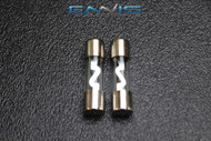 2 PACK 10 AMP AGU FUSE FUSES NICKEL PLATED INLINE HIGH QUALITY GLASS NEW AGU10