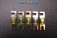 (5) 150 AMP MINI ANL FUSES GOLD PLATED INLINE AFC AFS BLADE AUTO HOLDER MANL150