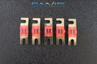 (5) 30 AMP MINI ANL FUSES GOLD PLATED INLINE AFC AFS BLADE AUTO HOLDER MANL30