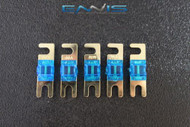 (5) 40 AMP MINI ANL FUSES GOLD PLATED INLINE AFC AFS BLADE AUTO HOLDER MANL40