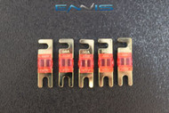 (5) 50 AMP MINI ANL FUSES GOLD PLATED INLINE AFC AFS BLADE AUTO HOLDER MANL50