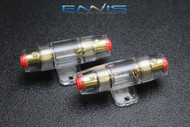 2 PACK AGU FUSE HOLDER 4 6 8 10 GAUGE IN LINE GLASS FUSES AWG WIRE GOLD