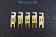(5) 60 AMP MINI ANL FUSES GOLD PLATED INLINE AFC AFS BLADE AUTO HOLDER MANL60