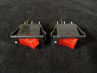 2 PACK ROCKER SWITCH ON OFF MINI TOGGLE RED LED 12V 16 AMP EC-1220RD