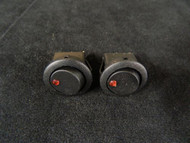 2 PACK ROUND ON OFF ROCKER SWITCH MINI TOGGLE RED LED 3/4 MOUNT HOLE EC-1213RD