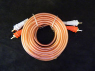 20 FT AUDIOPIPE CHANNEL MALE RCA WIRE CAR HOME AUDIO INTERCONNECT CABLE CLEAR