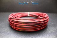 20 GAUGE 25 FT RED BLACK SPEAKER WIRE AWG CABLE POWER STRANDED COPPER CLAD EE