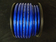 0 GAUGE WIRE 15 FT BLUE 1/0 AWG POWER GROUND CABLE STRANDED AUTOMOTIVE CAR