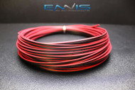 22 GAUGE 25 FT RED BLACK ZIP WIRE AWG CABLE POWER GROUND STRANDED COPPER CLAD EE