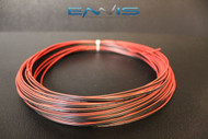 24 GAUGE 25 FT RED BLACK SPEAKER WIRE AWG CABLE POWER STRANDED COPPER CLAD EE
