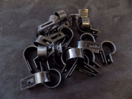 25 PACK 3/4 IN CABLE CLAMPS NYLON BLACK UV RESISTANT HOSE WIRE ELECTRICAL BCC34