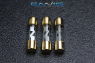 3 PACK 60 AMP AGU FUSE FUSES GOLD PLATED INLINE HIGH QUALITY GLASS NEW AGU60