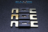 3 PACK 80 AMP ANL FUSE FUSES GOLD PLATED INLINE WAFER HIGH QUALITY HOLDER