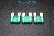 3 PACK MAXI 30 AMP FUSE BLADE STYLE CAR BOAT AUTOMOTIVE AUTO HOLDER FUSES EE
