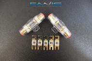 4 6 8 10 GAUGE MINI ANL FUSE HOLDERS (2) W (5) 80 AMP FUSES AFC MIDI FUSES HIGH
