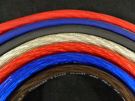4 GAUGE WIRE 10-50 FT RED BLUE BLACK SILVER FLEX/SHINNY POWER GROUND STRANDED