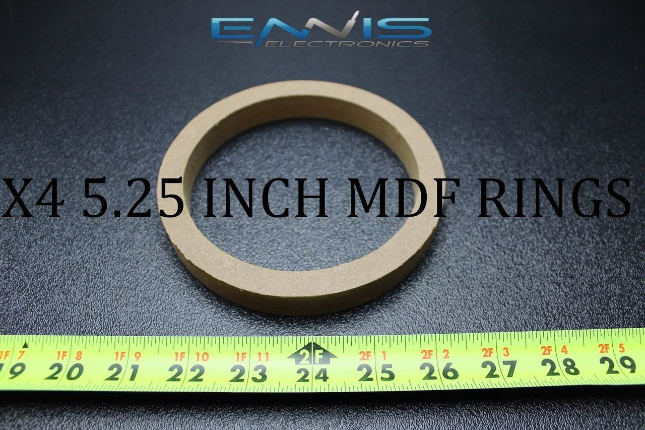 """3//4/"""" THICKNESS PAIR 4/"""" 4-Inch SPEAKER MDF SPACER RINGS"""