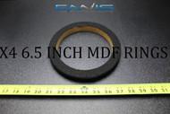 4 MDF SPEAKER RINGS SPACER 6.5 IN CARPET WOOD 3/4 FIBERGLASS RING-065CBK