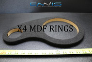 4 MDF SPEAKER RING SPACER 8 INCH (2 HOLES) CARPET WOOD 3/4 FIBERGLASS RING-8CTW