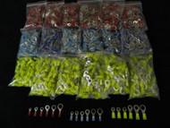 450 PK 10-12 14-16 18-22 GAUGE NYLON RING TERMINALS 25 PCS #6 #8 #10 1/4 5/16 38