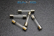 5 PACK 6 AMP AGC FUSE FUSES NICKEL PLATED GLASS FAST BLOW 1 1/4-1/4 INLINE AGC6