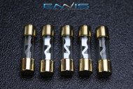 5 PACK 60 AMP AGU FUSE FUSES GOLD PLATED INLINE HIGH QUALITY GLASS NEW AGU60