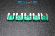 5 PACK MAXI 30 AMP FUSE BLADE STYLE CAR BOAT AUTOMOTIVE AUTO HOLDER FUSES EE