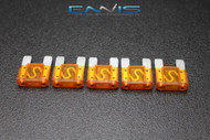 5 PACK MAXI 40 AMP FUSE BLADE STYLE CAR BOAT AUTOMOTIVE AUTO HOLDER FUSES EE