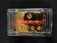 0 TO 4 GAUGE DISTRIBUTION BLOCK AUDIOPIPE GOLD 24K POWER WIRE PB-1044