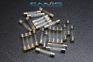 50 PACK 25 AMP AGC FUSE NICKEL PLATED GLASS FAST BLOW 1 1/4-1/4 INLINE AGC25